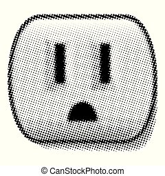 Outlet Shaped Halftone