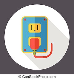 outlet socket flat icon