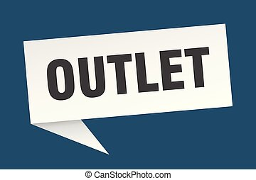 outlet speech bubble. outlet sign. outlet banner