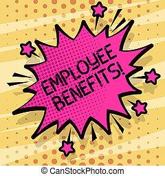 outline., ∥ない∥, benefits., ビジネス, 写真, 怒る, とげとげである, 現金, 支払われた, 執筆, 叫ぶこと, 概念, 補償, スピーチ, 手, テキスト, 従業員, 間接, 戦い, 泡, 提示