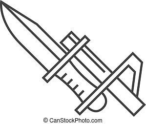 outline, 圖象, -, 刺刀, 刀