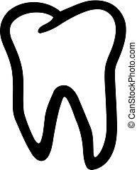 outline, 牙齒