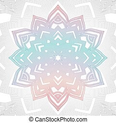 Outline abstract color mandala