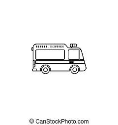 Outline Ambulance Vector cartoon