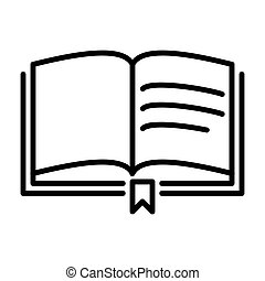 Outline Book Icon - msidiqf