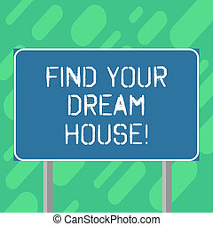 outline., buiten, kleurenfoto, house., grondig, leeg, thuis, jouw, perfect, flat, twee, schrijvende , vinden, tekst, conceptueel, zakelijk, been, wegwijzer, het tonen, hand, eigendom, droom