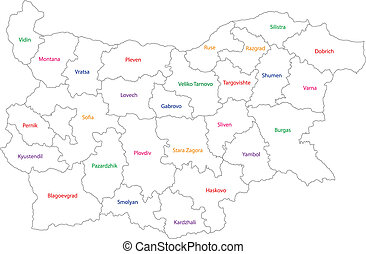 Outline Bulgaria map
