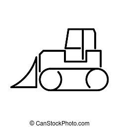 Outline Bulldozer Icon - msidiqf