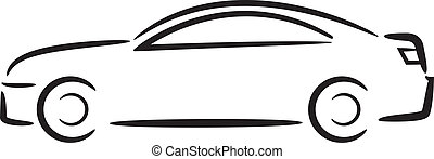 outline., car