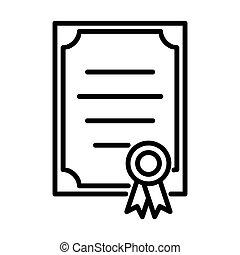 Outline Certificate Icon - msidiqf