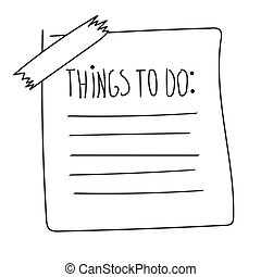 outline check to do list, bullet
