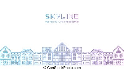 Outline city skyline