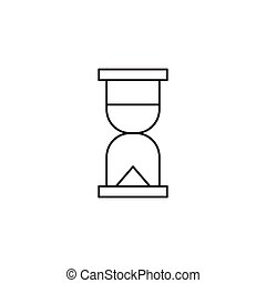 Outline clock icon isolated on white background
