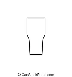 Outline cocktail glass icon isolated on white background