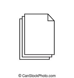 Outline document icon isolated on white background