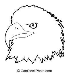 drawn eagle head
