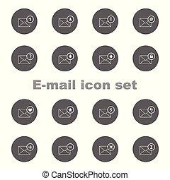 Outline e-mail icon set
