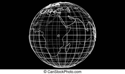 Outline Earth concept. 3D illustration video - Outline Earth...