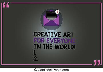 outline., everyone, arte, testo, segno, carta, messaggio, creativo, aperto, creatività, marchio, spalmare, foto, concettuale, nuovo, world., email, esposizione, busta, altri, quotazione, dentro