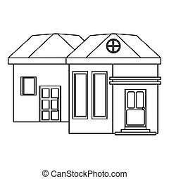outline family house exterior concept