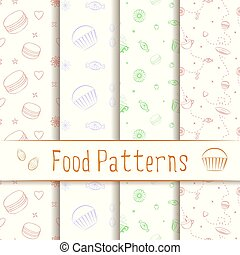 Outline Food Patterns 4 in one