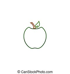 Outline fruit logo icon template