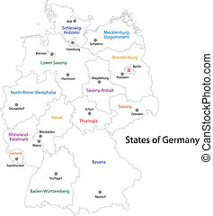 Outline Germany map