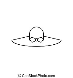 Outline hat icon isolated on white background