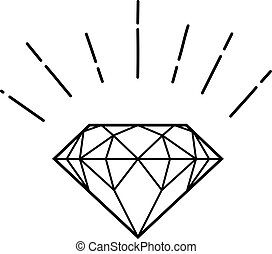 outline hipster diamond