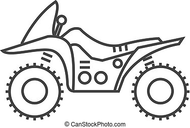 Outline icon - All terrain vehicle