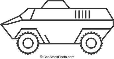 Outline icon - Armored vehicle