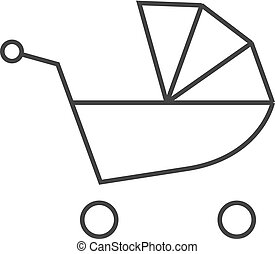 Outline icon - Baby stroller