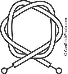 Outline icon - Bicycle cable