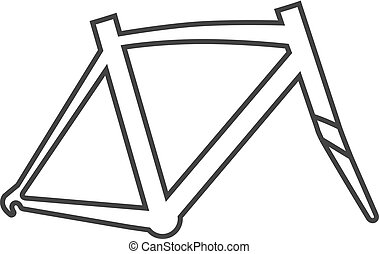 Outline icon - Bicycle frame
