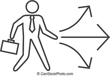 Outline icon - Businessman choice