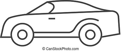 Outline icon - Car