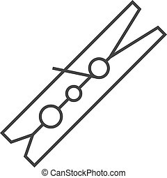 Outline icon - Clothes peg