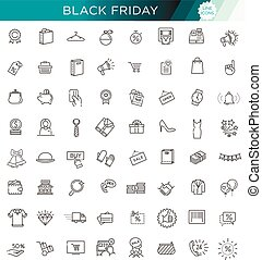 Outline icon collection - Black Friday Big Sale