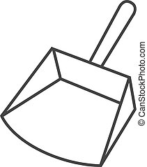 Outline icon - Dustpan - Dustpan icon in thin outline style....