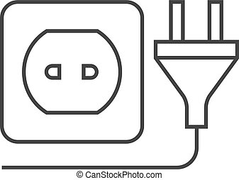 Outline icon - Electric plug