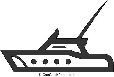 Outline Icon - Fishing boat