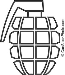 Outline icon - Grenade - Grenade icon in thin outline style....