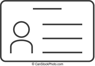 Business card icon outline style business card icon outline outline icon id card colourmoves