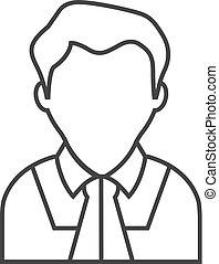 Outline icon - Judge avatar