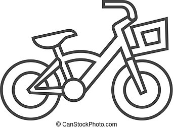 Outline icon - Kids bicycle