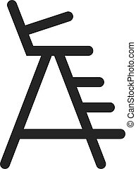 Outline Icon - Lifeguard chair - Lifeguard chair icon in ...