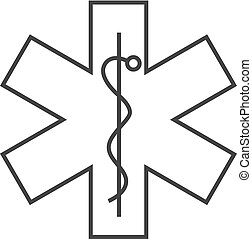 Outline icon - Medical symbol