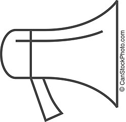 Outline icon - Megaphone
