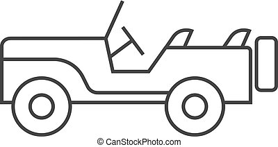 Outline icon - Military vehicle