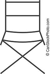 Outline icon - Movie director chair